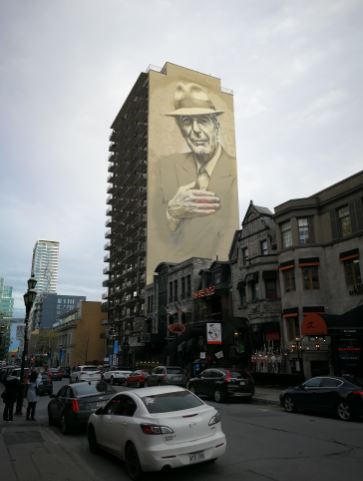 Kw 45 2017 montreal tower of song leonard cohen for Mural leonard cohen